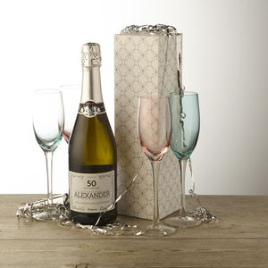 50th Birthday Personalised Prosecco - wines, beers & spirits
