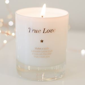 Make A Wish For True Love Candle