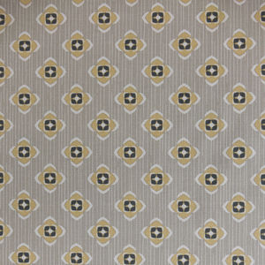 Garden Ochre Grey Fabric By The Metre