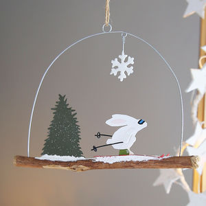 Speed Skating Rabbit Hanging Decoration