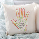 Personalised Family Hands Cushion