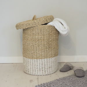 Wicker Linen Basket - baskets