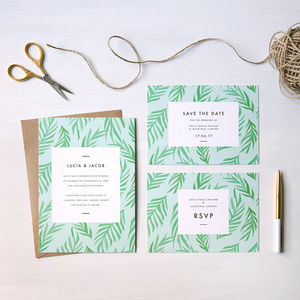 Tropical Wedding Invites - summer wedding