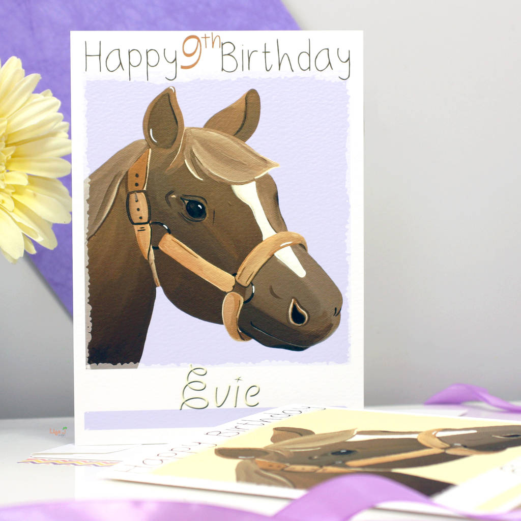 Personalised Pony Horse Birthday Card