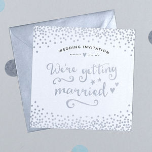 10 Pack Of Glitter And Sparkle Wedding Invitations