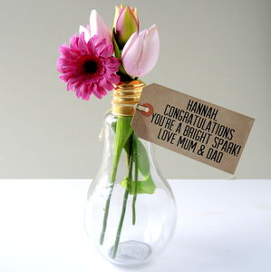 Exam Results Light Bulb Vase - exam congratulations gifts