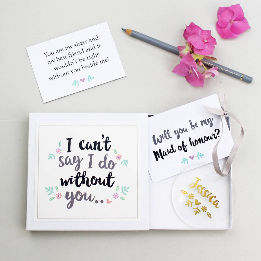 Sister Will You Be My Maid Of Honor Gift Gift Ideas