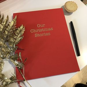 Christmas Memory Keepsake Book - notebooks & journals