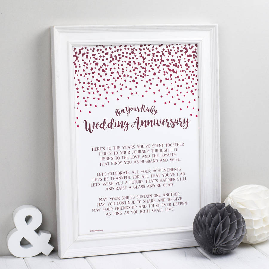 Ruby wedding: what to give 99