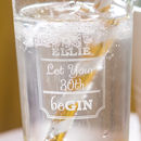 Milestone Birthday Gin Etched Personalised Glass