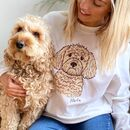 Personalised Dog Lover Illustration Sweatshirt
