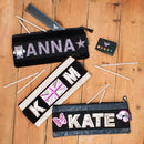 Personalised Long Pencil Case For Girls