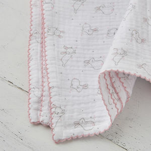 Bunny Print Muslin Baby Wrap - baby care
