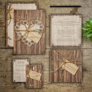 Woodland Love Story Wedding Invitations - save the date cards