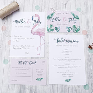 Flamingo Wedding Stationery Range