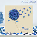 Nain Hydrangea Butterfly Card/ Nain Birthday Card