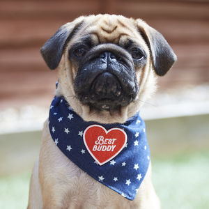 Denim Bandana Neckerchief With Optional Patches