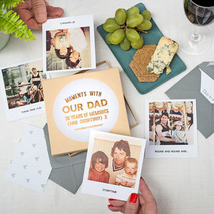 Moments With Dad Memory Box - wedding thank you gifts