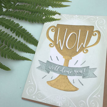 Wow Foiled Congratulations Card