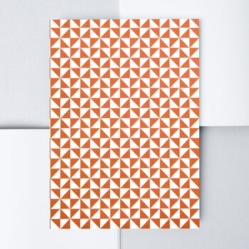 A5 Layflat Notebook – Kaffe Print In Brick Red