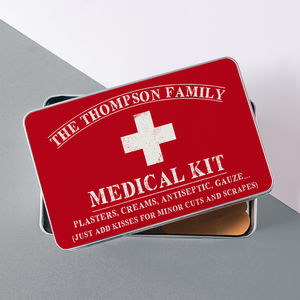 Personalised Family Medical Kit Storage Tin - storage & organising
