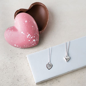 Mother's Day Heart Necklace And Chocolates Gift Set