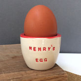 Personalised Ceramic Egg Cup - easter