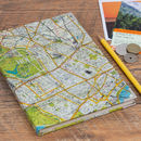 Personalised London Map Travel Notebook