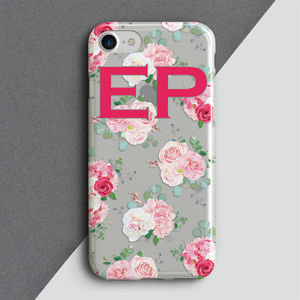 Personalised Vintage Rose Phone Cover - tech accessories for him