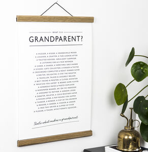 Grandparents Poem Print