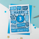 3rd Thats Right Personalised Birthday Card Blue
