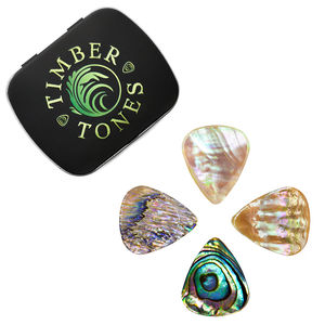 Abalone Tones Guitar Plectrums In A Gift Tin