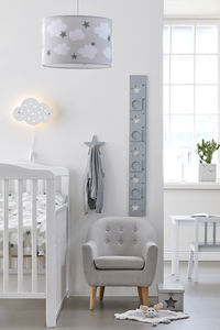 Grey Height Chart With Picture Frames