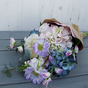 Summer Country Garden Hand Tied Faux Flower Bouquet - flowers, plants & vases