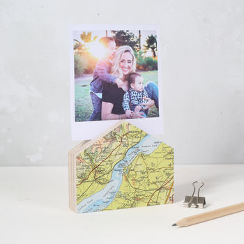 Personalised Map Location House Photo Stand
