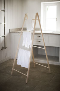 Double Spindle Towel Ladder - stands, rails & hanging space