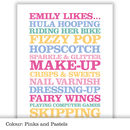 Childrens Likes - Pinks and pastels
