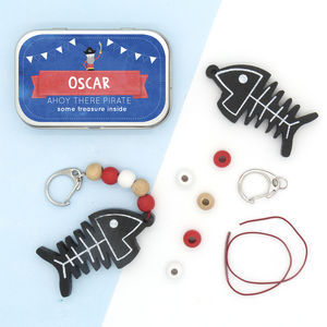 Personalised Pirate Keyring Gift Kit