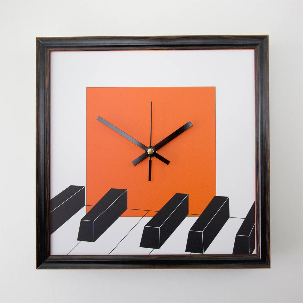 Piano music wall clock by studio personae notonthehighstreet piano music wall clock amipublicfo Images