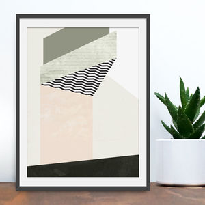 'Descend' Geometric Abstract Print - modern & abstract