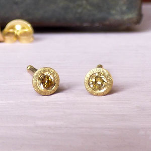 Clara 18ct Fairtrade Gold Ethical Diamond Studs