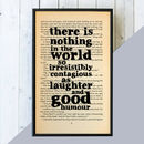 Friend Print Dickens 'Laughter And Good Humour' Quote Book Print