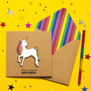 3D Handmade Magical Unicorn Birthday Card