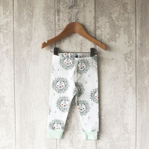 Mint Lion Baby Leggings - unisex baby gifts