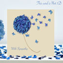 With Sympathy Blue Hydrangea Butterfly Card