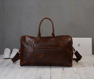 Leather Classic Travel Holdall Bag Gift For Him - summer sale