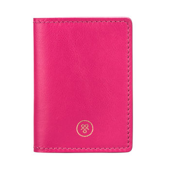 Personalised Leather Travel Card Holder 'Vallata Nappa'