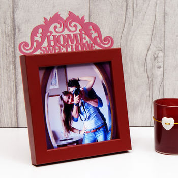 'Home Sweet Home' Mini Frame in Maroon