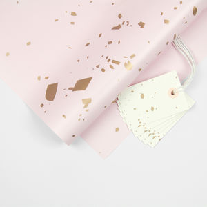 Pastels Confetti Gift Wrap And Gift Tag Pack