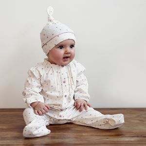 Baby Girls Dainty Tulip Babygrow And Hat Gift Set - new in baby & child